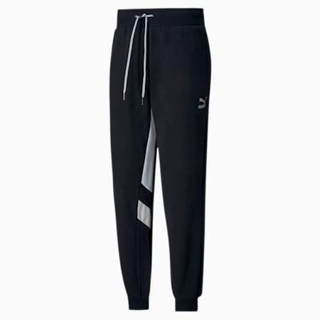 Tailored for Sport Retro Fusion Men's Track Pants, Puma Black-Vaporous Gray, small