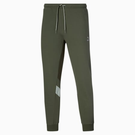 Pantalones deportivos retro TailoredforSport para hombre, Thyme, pequeño