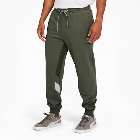 Tailored for Sport Retro Fusion Men's Track Pants, Thyme, small