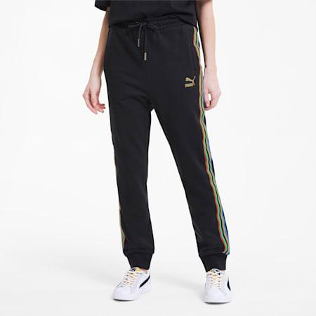 Pantalones de chándal para mujer TFS, Puma Black-gold, small
