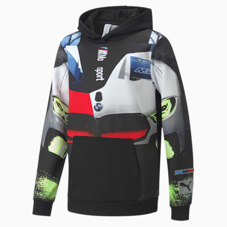 BMW M Motorsport Street Kids' Hoodie, Puma Black, small