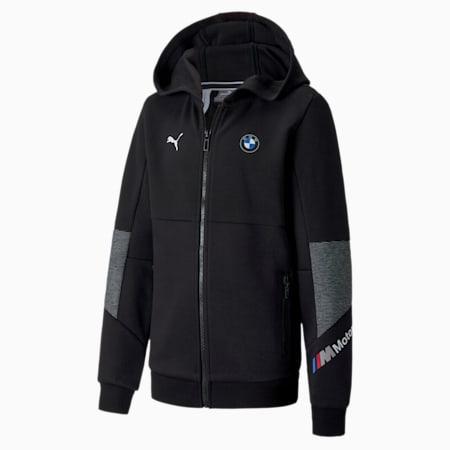 BMW Motorsport  Kid's Sweat Jacket, Puma Black, small-IND