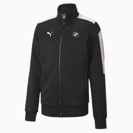 BMW Motorsport T7 Kid's Drop Shoulder Track Jacket, Puma Black, small-IND