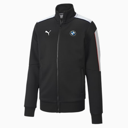 BMW M Motorsport T7 Youth Track Jacket, Puma Black, small-SEA