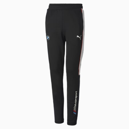 BMW M Motorsport T7 Youth Track Pants, Puma Black, small-SEA