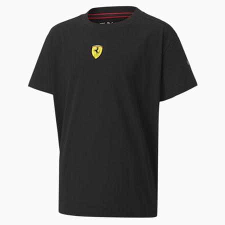 Ferrari Race Kids Street T-shirt, Puma Black, small-IND