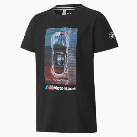 BMW M Motorsport Kids' Graphic Tee JR, Puma Black, small
