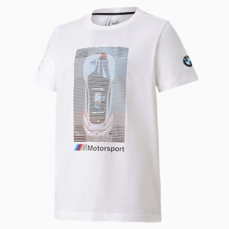 BMW M Motorsport Kids' Graphic Tee, Puma White, small