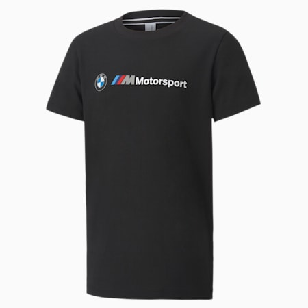 BMW M Motorsport Logo Kid's T-Shirt, Puma Black, small-IND