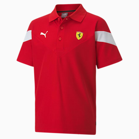 Scuderia Ferrari Race MCS Youth Polo Shirt, Rosso Corsa, small-SEA