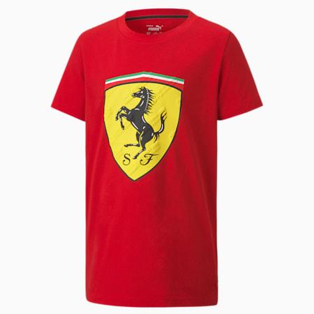 Scuderia Ferrari Race Big Shield Youth Tee, Rosso Corsa, small-SEA