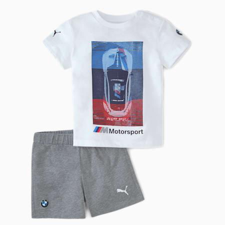 BMW M Motorsport Babies' Jog Suit, Puma White, small-SEA