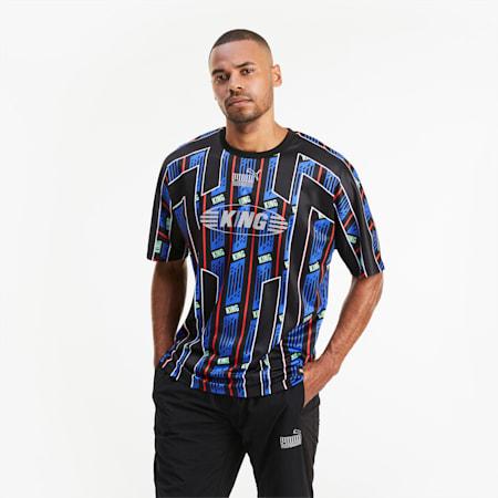 Camiseta KING para hombre, Puma Black-AOP, small