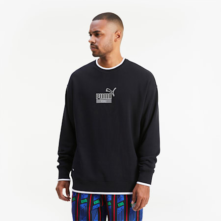 KING Crew Neck Men's Sweater, Puma Black, small