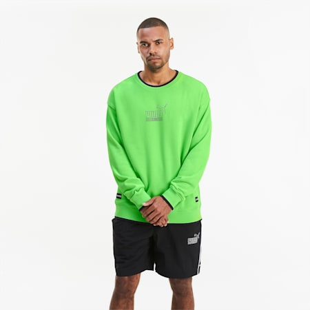 KING Crew Neck Men's Sweater, Summer Green, small