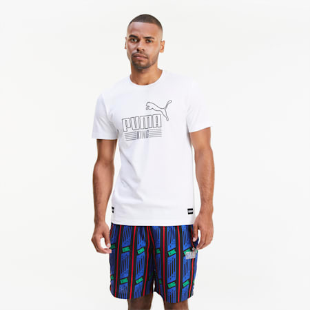 KING T-shirt voor heren, Puma White, small