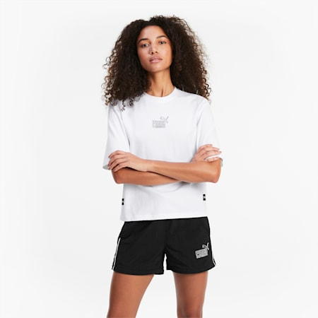 QUEEN T-shirt voor dames, Puma White, small