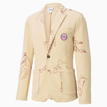 PUMA x KIDSUPER STUDIOS Men's Tailored Jacket, Honey Peach, small