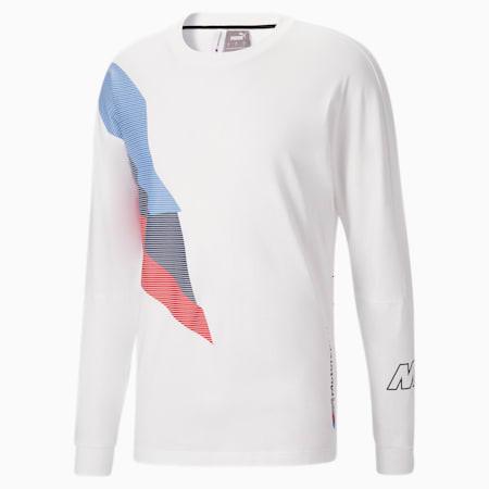 T-shirt à manches longues BMW M Motorsport Street, homme, Blanc Puma, petit