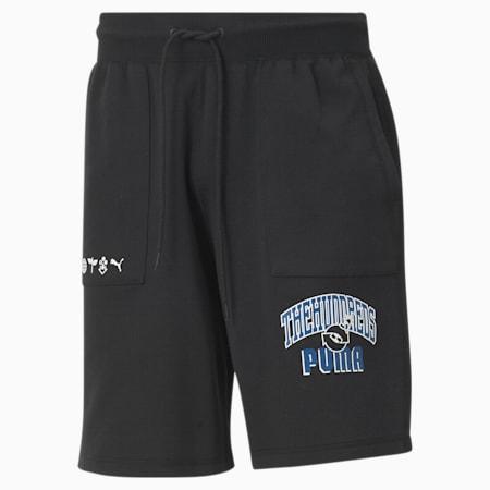 PUMA x THE HUNDREDS Wendbare Herren Shorts, Puma Black, small