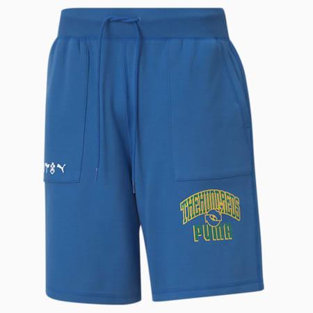 Shorts PUMA x THE HUNDREDS double face da uomo, Olympian Blue, small