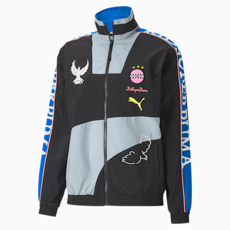 PUMA x KIDSUPER Men's Track Jacket, Puma Black, small-SEA