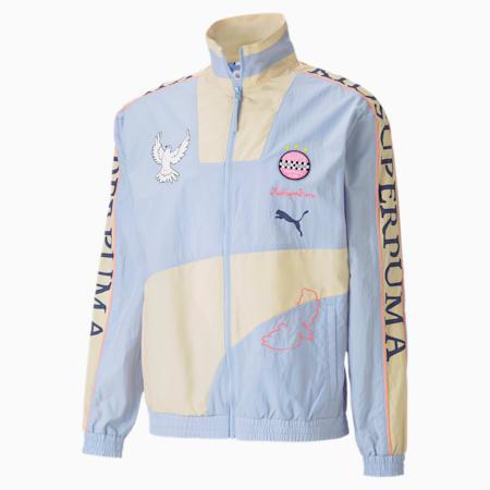 PUMA x KIDSUPER Men's Track Jacket, Brunnera Blue, small-SEA