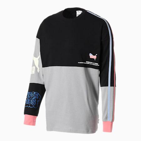 PUMA x KIDSUPER STUDIOS 長袖 Tシャツ, Puma Black, small-JPN