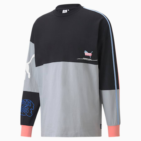 PUMA x KIDSUPER STUDIOS Men's Long Sleeve Tee, Puma Black, small