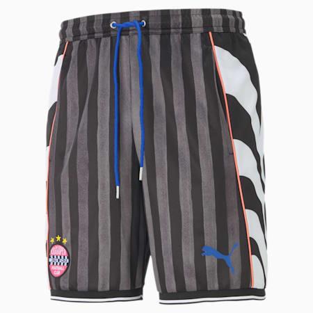 PUMA x KIDSUPER Men's Shorts, Puma Black-AOP, small