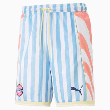 PUMA x KIDSUPER Men's Shorts, Puma White-AOP, small