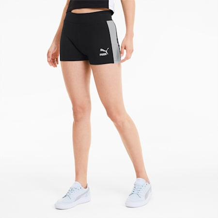 Classics Women's Micro Shorts, Cotton Black, small-SEA