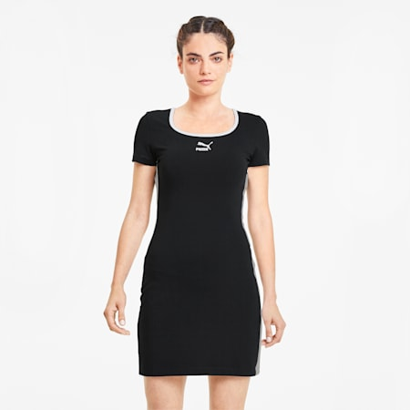 Robe à manches courtes Classics pour femme, Cotton Black, small