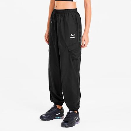 Pantalones Classics Utility Woven para mujer, Puma Black, small