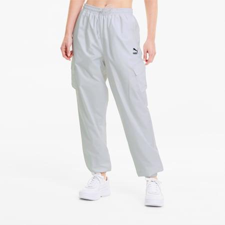 Pantalones Classics Utility Woven para mujer, Puma White, small