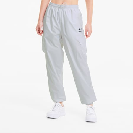 Tkane spodnie damskie Classics Utility, Puma White, small