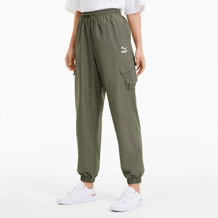 Pantalones Utility Classics para mujer, Deep Lichen Green, pequeño