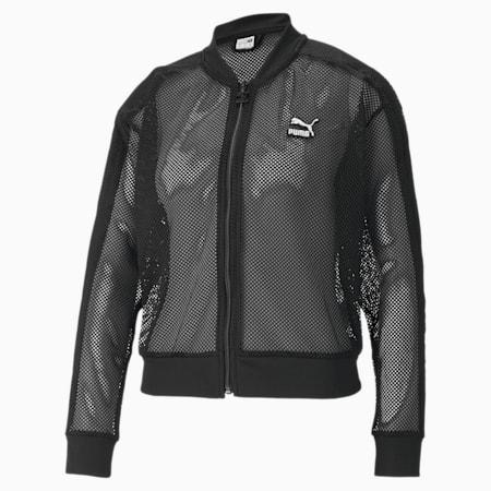 Classics Mesh Women's Bomber Jacket, Puma Black, small