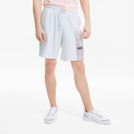 Tie Dye Men's Graphic Shorts, Puma White, small