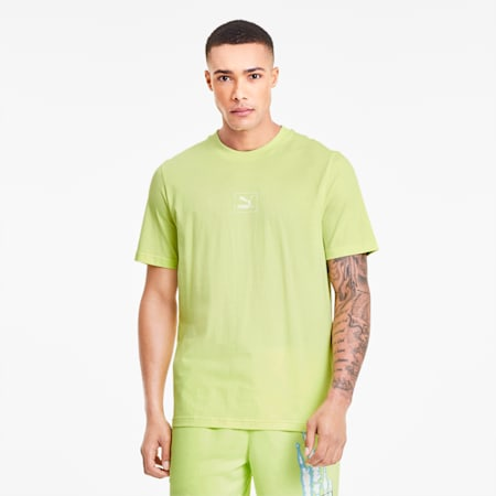 Tie Dye Graphic Men's Tee, Sunny Lime, small