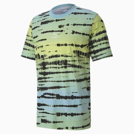 タイダイ AOP Tシャツ 半袖, Aquamarine-AOP, small-JPN