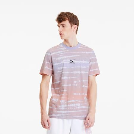 Tie Dye Allover-Print Herren T-Shirt, Purple Heather-AOP, small