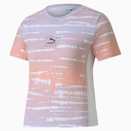 タイダイ AOP WS Tシャツ 半袖 ウィメンズ, Purple Heather-AOP, small-JPN