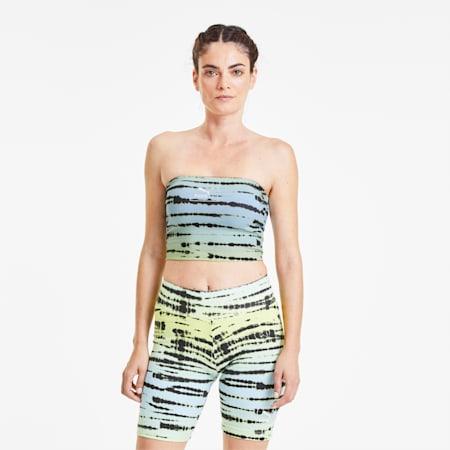 Tie Dye Women's AOP Bandeau, Aquamarine-AOP, small
