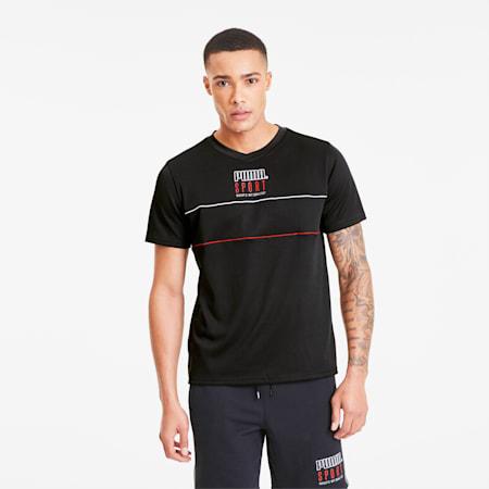 PUMA Sport Herren Mesh T-Shirt, Cotton Black, small