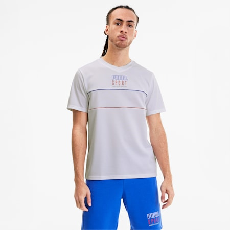 PUMA Sport Herren Mesh T-Shirt, Puma White, small