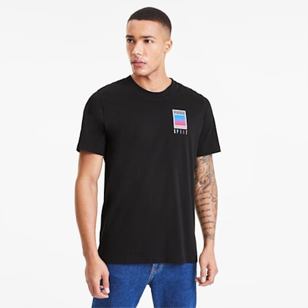 PUMA SPORT グラフィック Tシャツ, Cotton Black, small-JPN