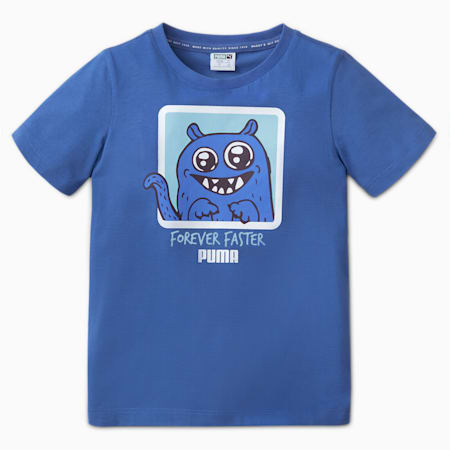 Monster Kids Tee, Bright Cobalt, small-SEA
