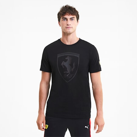 Scuderia Ferrari Race Men's Big Shield Tee, Puma Black, small