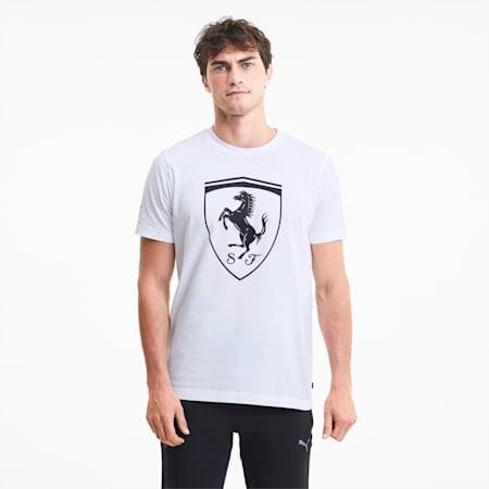 Scuderia Ferrari Race Big Shield Men's T-Shirt, Puma White, small-IND